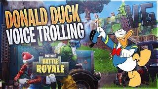 Donald Duck Voice Trolling! (Fortnite Voice Trolling)