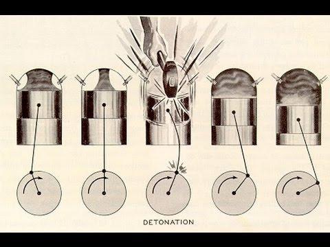 Как звучит детонация двигателя видео