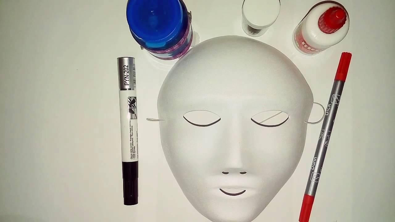 Basit Maske Süslemesi Kendin Yap Youtube