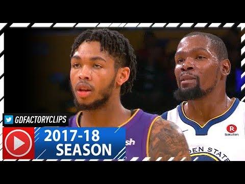 Kevin Durant vs Brandon Ingram AMAZING Duel Highlights (2017.11.29) Warriors vs Lakers - MUST WATCH!