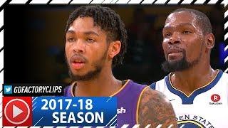 Kevin Durant vs Brandon Ingram AMAZING Duel Highlights (2017.11.29) Warriors vs Lakers - MUST WATCH!