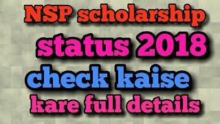 nsp scholarship status 2018 pfms online check application student