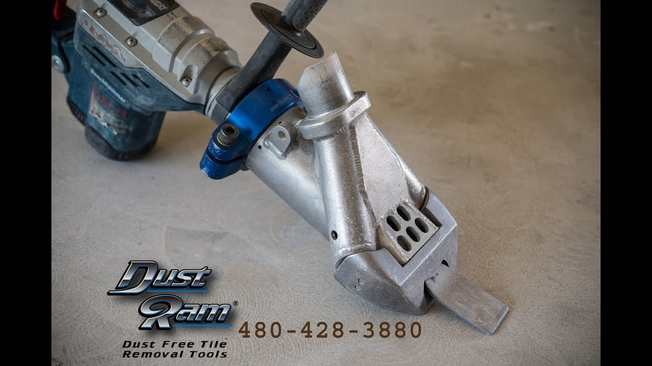 Dust Free Tile Removal Tool Comparison Review DustRam Vs Dust - Labor cost to remove tile floor