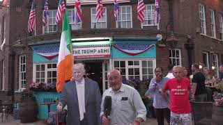 President Donald Trump  gives exclusive interview in London