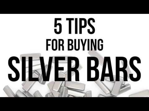 5 Tips for Buying Silver Bars - Silver Bar Investing Tips