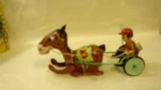 Vintage Mechanical Racing Trotter Wind-up Toy Mikuni