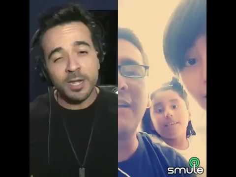 Cantando Despacito Joaquin Rodríguez, Luis Fonsi y Jorge Luis Rodríguez