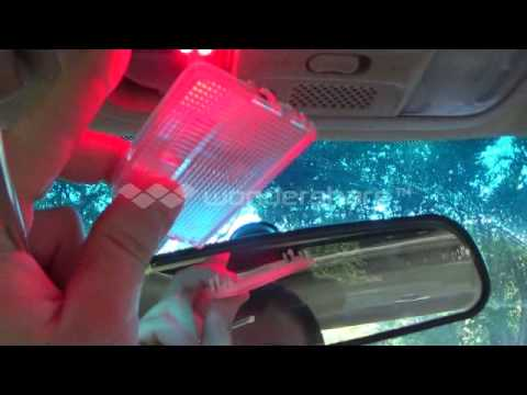 Led dome map light installation youtube for Led glow interior lights installation