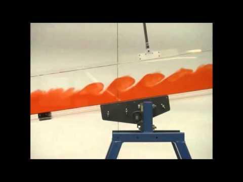 Kelvin Helmholtz instability experiment vs. simulation