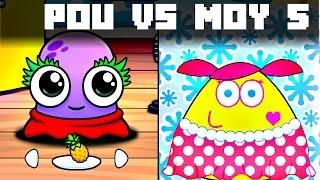 Video POU vs MOY 5 GAMEPLAY CHILDREN KIDS GAME download MP3, 3GP, MP4, WEBM, AVI, FLV Desember 2017