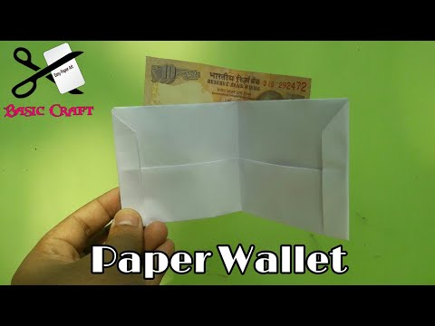 DIY- How To Make A Paper Wallet | Origami Wallet | Paper Purse