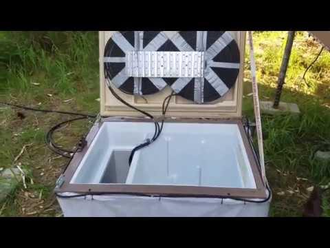 Homemade OFF-GRID Refrigerator, built for a Tiny House