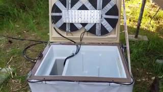 Homemade OFF-GRID Refrigerator uses two different cooling processes to keep my food fresh.