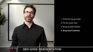 Den Gode Præsentation: 5 gode råd til præsentationsteknik | TACK