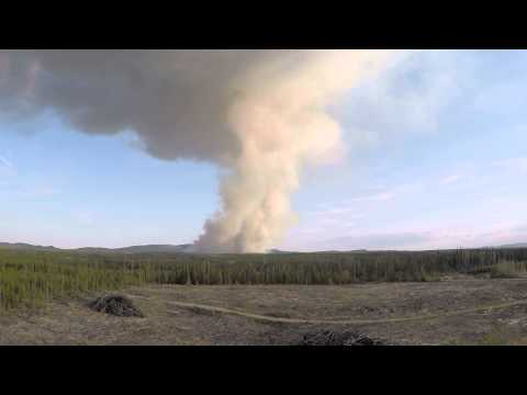 Fire in BC - Norman Lake, near Prince George - 2015 mai 09 - DAY 1.