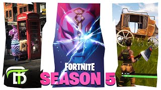 FORTNITE SEASON 5 BATTLE PASS SKINS & MAP THEORIES... JAPAN MEETS WILD WEST??