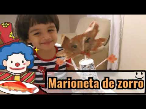 ¡Hagamos una Marioneta de Zorro! (Fox Puppet/Tilki kuklası)
