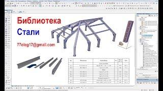 Проектирование металлоконструкций  в ArchiCAD.  Автор Олег Соловьев, 77oleg17@gmail.com