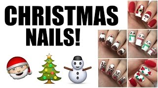 HOW TO: 5 Easy Christmas Nail Designs   The Nail Trail