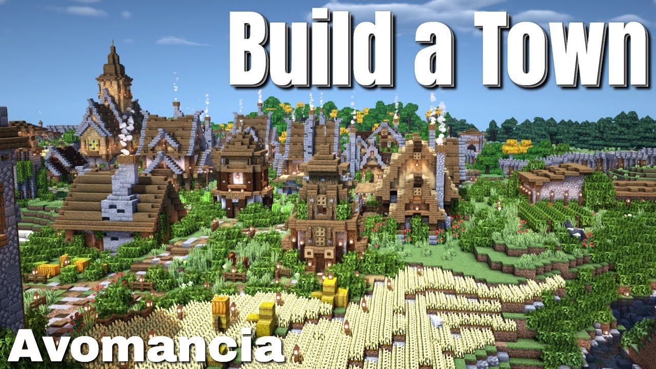 Build a Town in Minecraft Survival | The Ultimate Minecraft Build Challenge (2021) Avomancia 22
