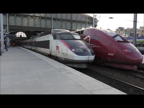 Trains at Paris Gare Du Nord | 07/02/17 4K!