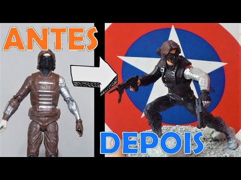 TRANSFORMING WINTER SOLDIER (BUCKY) TOY INTO ACTION FIGURE! - (TOY MAKEOVER)