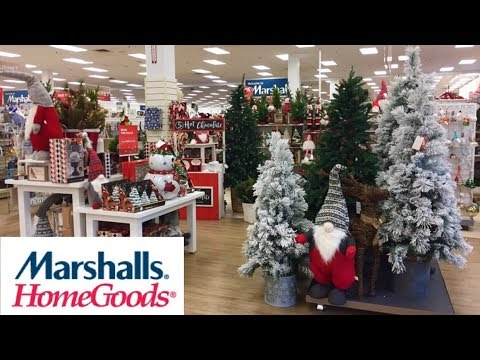 MARSHALLS HOME GOODS CHRISTMAS 2019 DECORATIONS DECOR - SHOP WITH ME SHOPPING STORE WALK THROUGH 4K