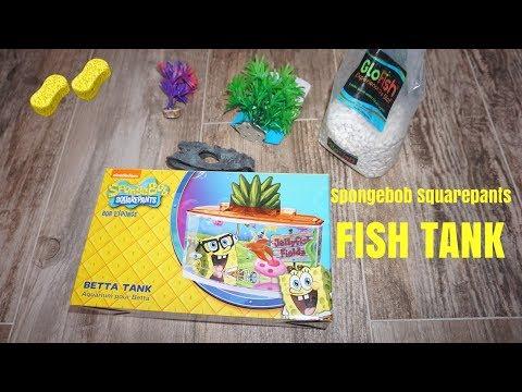 Spongebob Squarepants Betta Tank Setup!!!!!