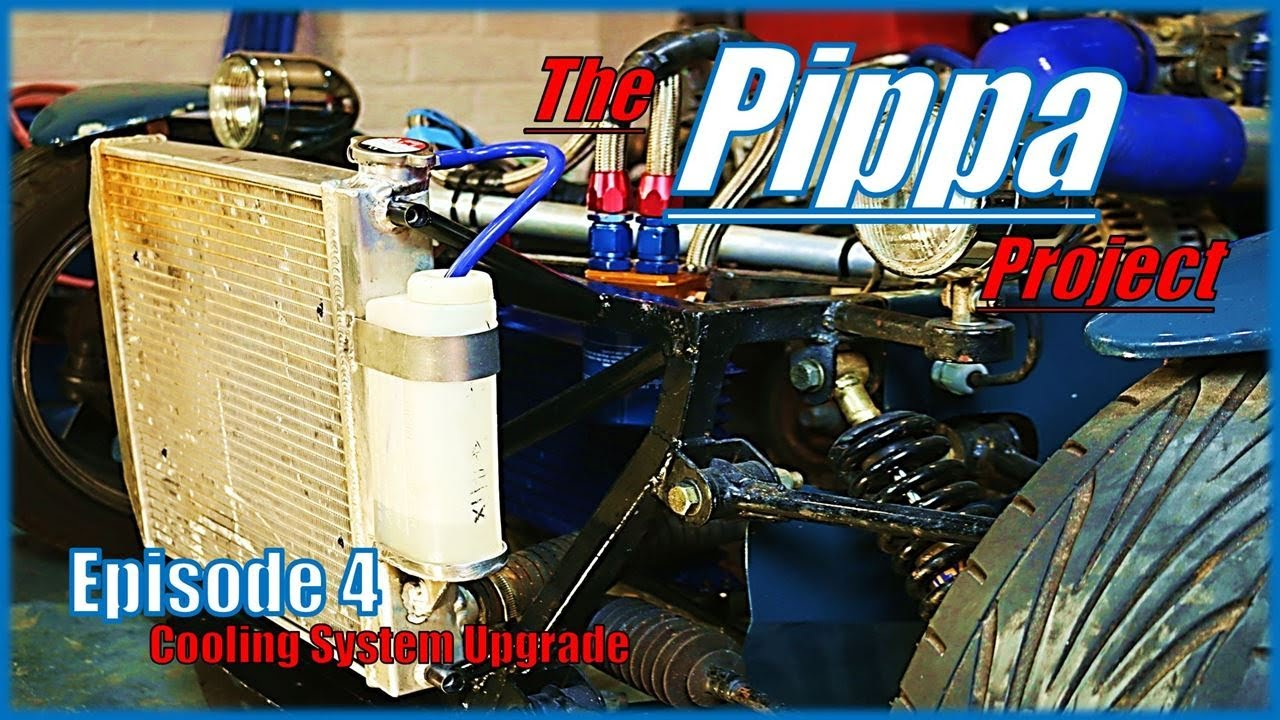 The Pippa Project - S2000 Powered Haynes Roadster - Converting a Downflow radiator into a Crossflow