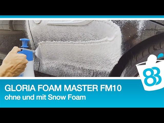 Schaumsprueher Test Gloria Foam Master Fm 10 Test Ohne Und Mit Snow Foam Und Shampoo
