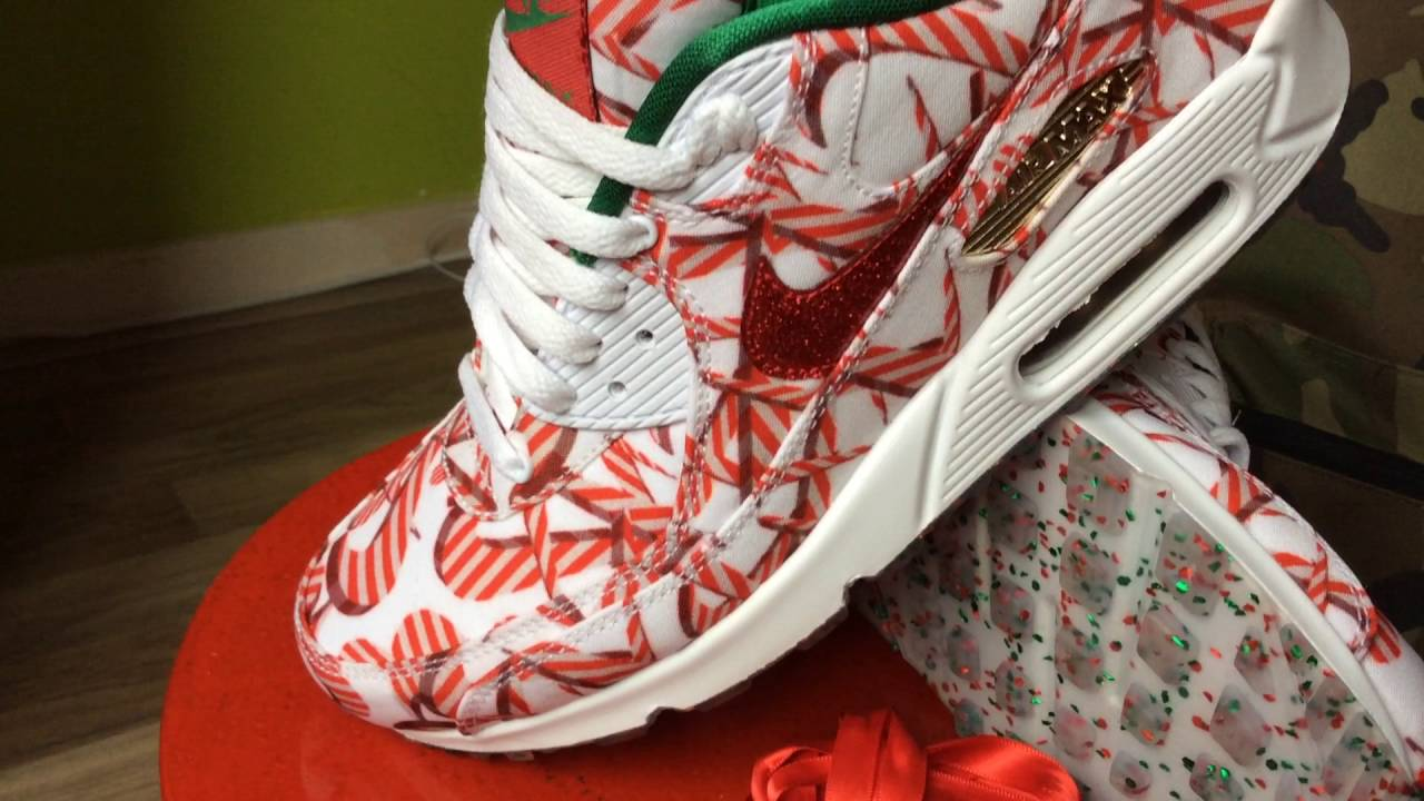 Nike Air Max 90 (Christmas Edition 2015) 2016 (Collection)(RedGoldGreenWhite)(Part 92)