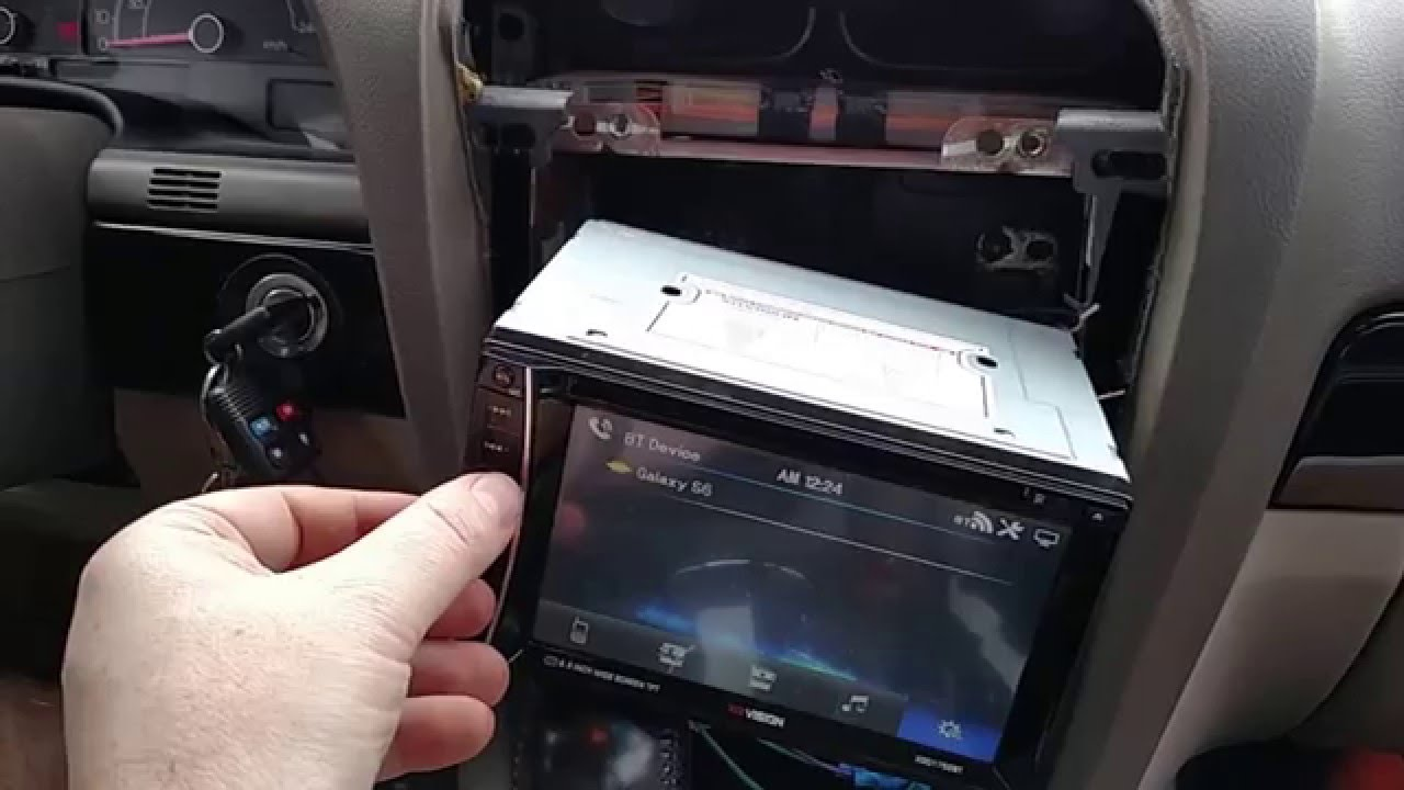 Jeep Cherokee Stereo Wiring Diagram 8n 12v Conversion Review And Install Of The Xo Vision Double Din Radio, With Factory Speakers Kicker 12s - Youtube