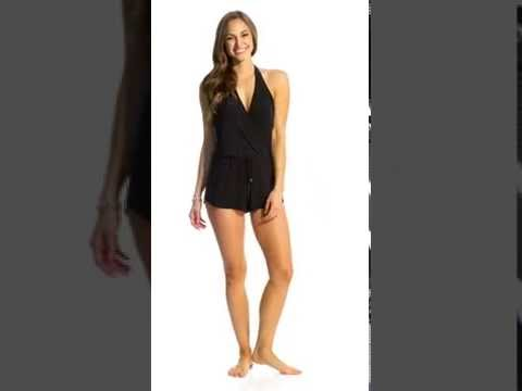 497a752a7d9 Magicsuit by Miraclesuit Solid Bianca Swim Romper   SwimOutlet.com - YouTube