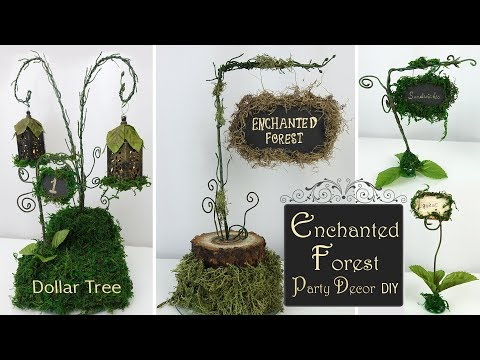 Enchanted Forest Party Decor / Woodland Party DIY / Dollar Tree Party Decor
