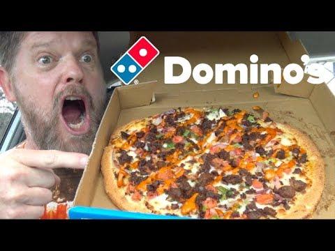 Domino's New Plant Based Taco Fiesta Pizza Mukbang