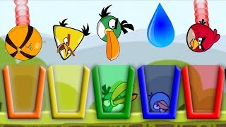 Angry Birds Drink Water 2 - BIRD DRINK COLOR WATER SHOOTING GAMEPLAY!