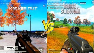 RULES OF SURVIVAL VS KNIVES OUT FPP/FPS MODE Comparison (Android) HD