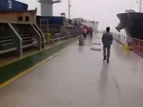 Live ship collision in Bangladesh