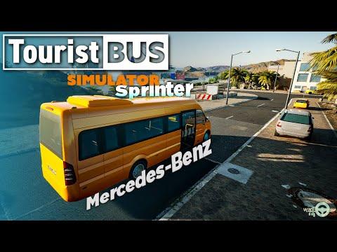 Tourist Bus Simulator   Mercedes Benz Sprinter Gameplay Bike rental to Hotel Thrustmaster T300RS GT  