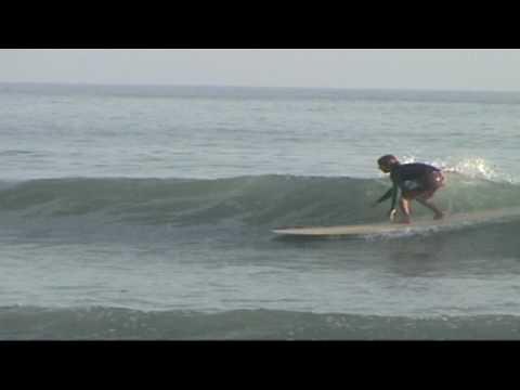 Cruiser Hollow Wooden Surfboard at Trestles
