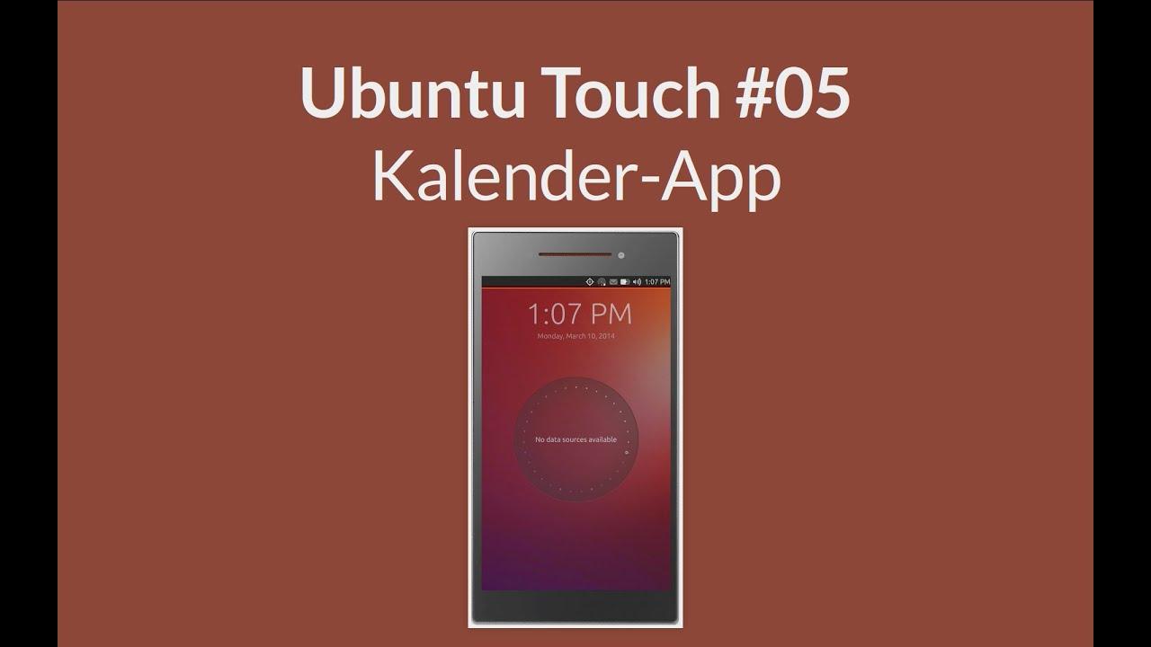 ubuntu touch kalender app youtube. Black Bedroom Furniture Sets. Home Design Ideas