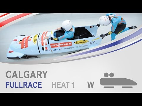 Calgary | Women's Bobsleigh Heat 1 World Cup Tour 2014/2015 | FIBT Official