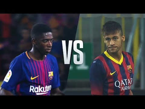 Thumbnail: Ousmane Dembele vs Neymar Jr - Who Did The Best Barca Debut?