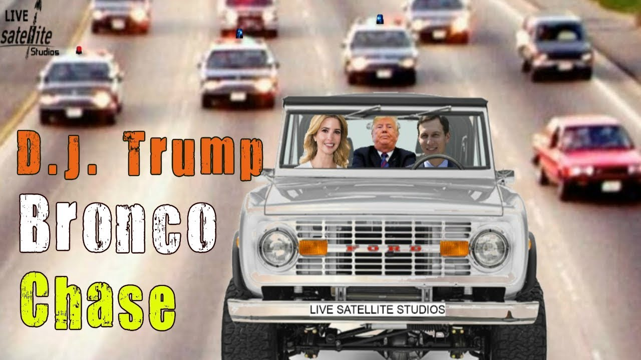 Trump In White Ford Bronco Chase Getaway Animation Funny Youtube