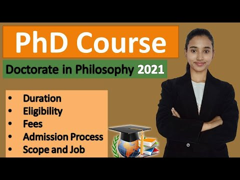 PhD Course Details, Doctorate In Philosophy, PhD Eligibility