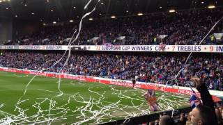 Rangers FC Title Party 4/5/13 v Berwick Streamers and Confetti 50,000 Fans