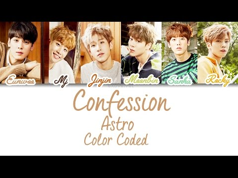 Astro - Confession (Color Coded Lyrics /Ham/Rom/Eng)