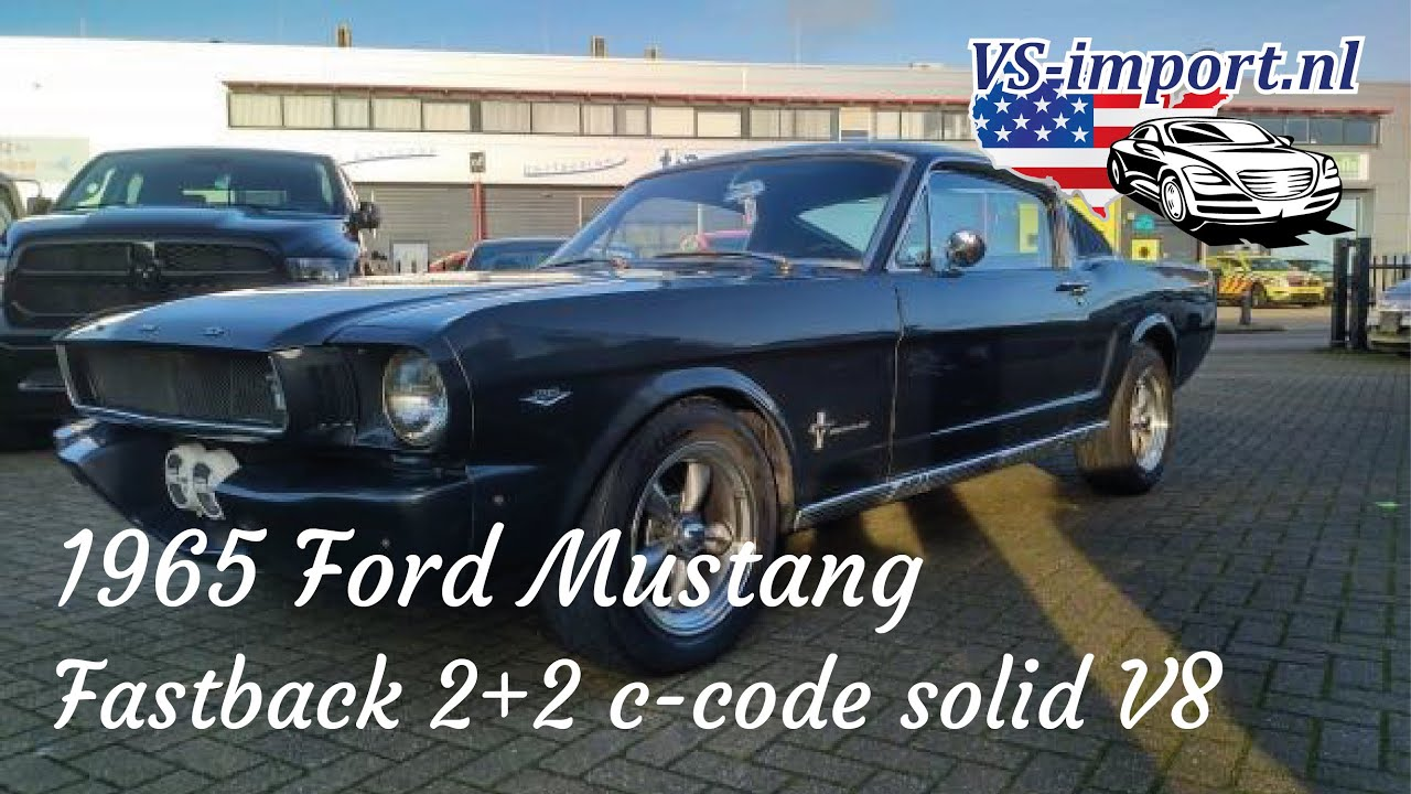 The fastback and coupe are body styles of the classic mustang manufactured by ford. 1965 Ford Mustang Solid V8 Fastback 2 2 C Code Vs Import Nl Youtube