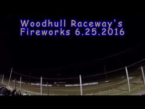 Fireworks at Woodhull raceway 2016