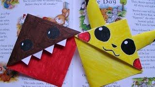 DIY Domo and Pikachu Bookmarks; Kawaii Back to School